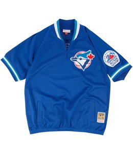 MITCHELL AND NESS ROBERTO ALOMAR BLUE JAYS 1/4 ZIP BP JERSEY