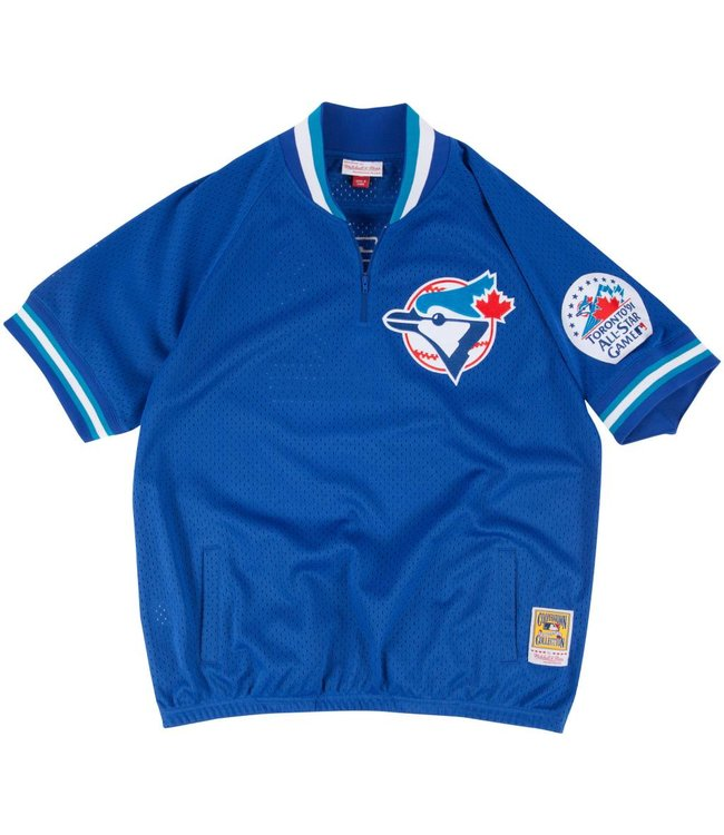 MITCHELL AND NESS Roberto Alomar Authentic Toronto Blue Jays 1/4 Zip Batting Practice Jersey