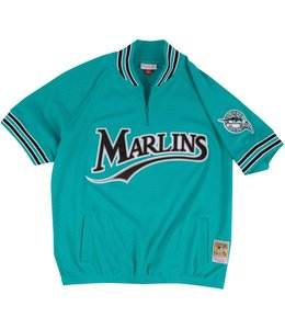 MITCHELL AND NESS ANDRE DAWSON MARLINS 1/4 ZIP BP JERSEY
