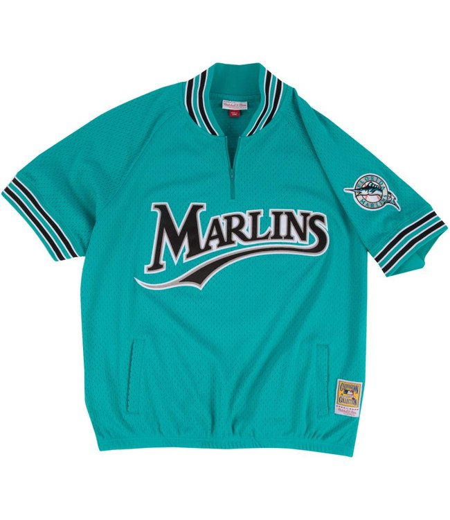 MITCHELL AND NESS Andre Dawson Authentic Florida Marlins 1/4 Zip Batting Practice Jersey