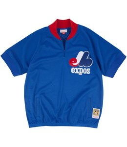 MITCHELL AND NESS EXPOS 1/4 ZIP BP JERSEY