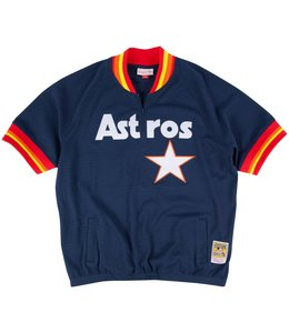MITCHELL AND NESS ASTROS JEFF BAGWELL 1/4 ZIP BP JERSEY