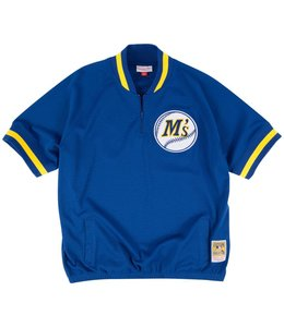 MITCHELL AND NESS MARINERS KEN GRIFFEY JR. 1/4 ZIP BP JERSEY