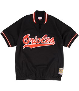 MITCHELL AND NESS ORIOLES CAL RIPKEN JR. 1/4 ZIP BP JERSEY