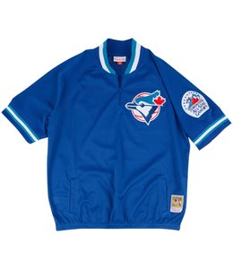 MITCHELL AND NESS BLUE JAYS JOE CARTER AUTHENTIC 1/4 ZIP BP JERSEY