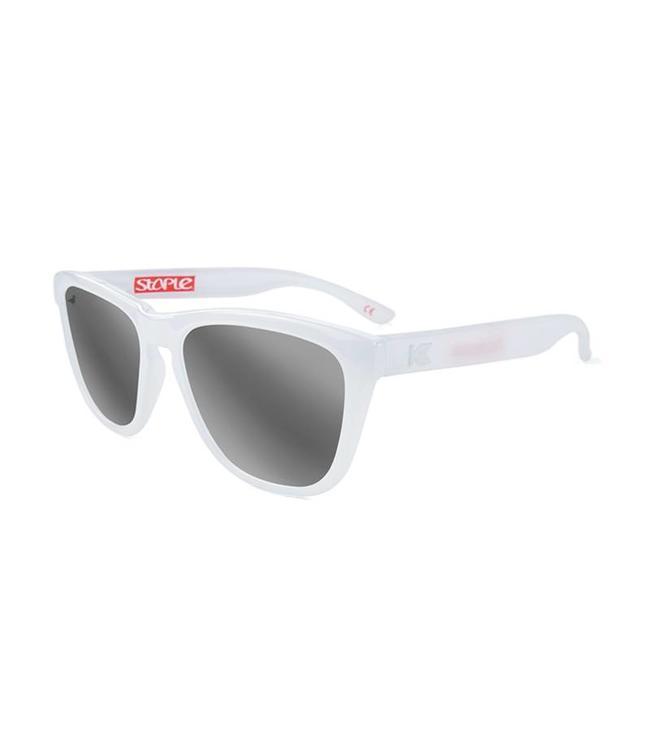 KNOCKAROUND Staple Pigeon White Monochrome Sunglasses