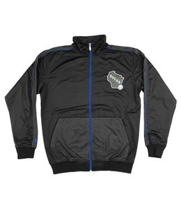 MAJESTIC STATE LOGO FULL-ZIP TRACK JACKET