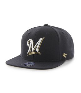 '47 BRAND MILWAUKEE BREWERS SURE SHOT SNAPBACK HAT