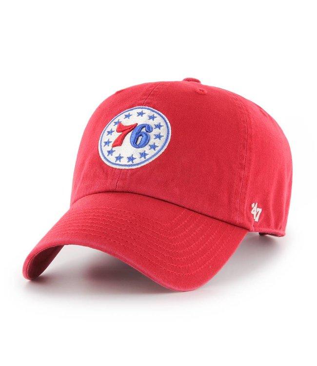 '47 BRAND Philadelphia 76ers Clean Up Hat