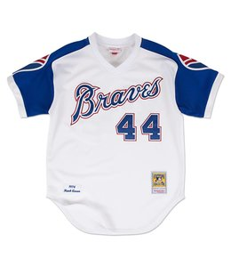 MITCHELL AND NESS HANK AARON 1974 AUTHENTIC JERSEY ATLANTA BRAVES