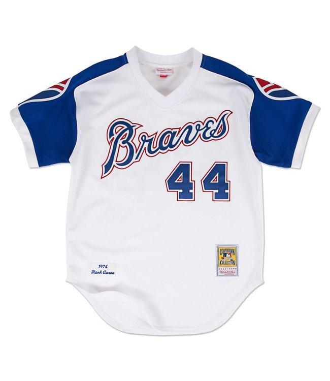 MITCHELL AND NESS Hank Aaron 1974 Authentic Jersey Atlanta Braves