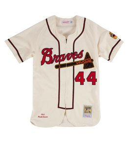 MITCHELL AND NESS HANK AARON 1957 AUTHENTIC JERSEY MILWAUKEE BRAVES
