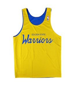 MITCHELL AND NESS DROP STEP REVERSIBLE MESH TANK - GOLDEN STATE WARRIORS