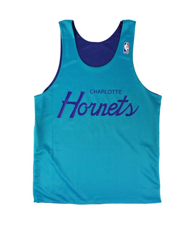 MITCHELL AND NESS DROP STEP REVERSIBLE MESH TANK - CHARLOTTE HORNETS