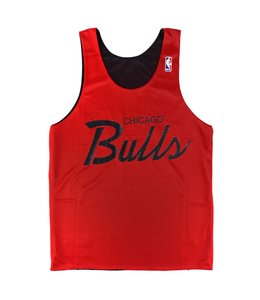 MITCHELL AND NESS DROP STEP REVERSIBLE MESH TANK - CHICAGO BULLS