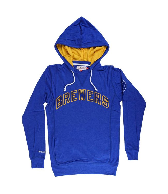 MITCHELL AND NESS MILWAUKEE BREWERS AWAY TEAM HOODIE