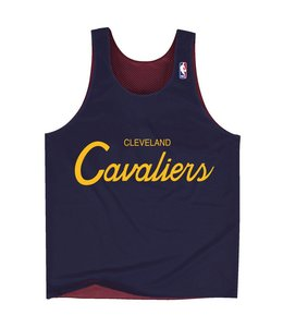 MITCHELL AND NESS DROP STEP REVERSIBLE MESH TANK - CLEVELAND CAVALIERS