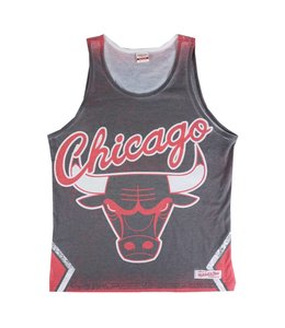 MITCHELL AND NESS PLAYOFF WIN SUBLIMATED TANK - CHICAGO BULLS