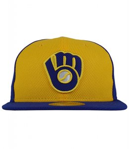 NEW ERA MILWAUKEE BREWERS PRACTICE DIAMOND FITTED