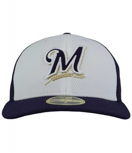 NEW ERA MILWAUKEE BREWERS PRACTICE DIAMOND LO PRO FITTED
