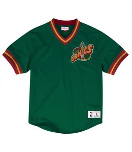 MITCHELL AND NESS MESH V-NECK TOP -  SEATTLE SUPERSONICS