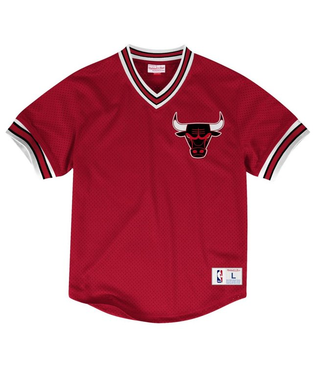 MITCHELL AND NESS MESH V-NECK TOP -  CHICAGO BULLS