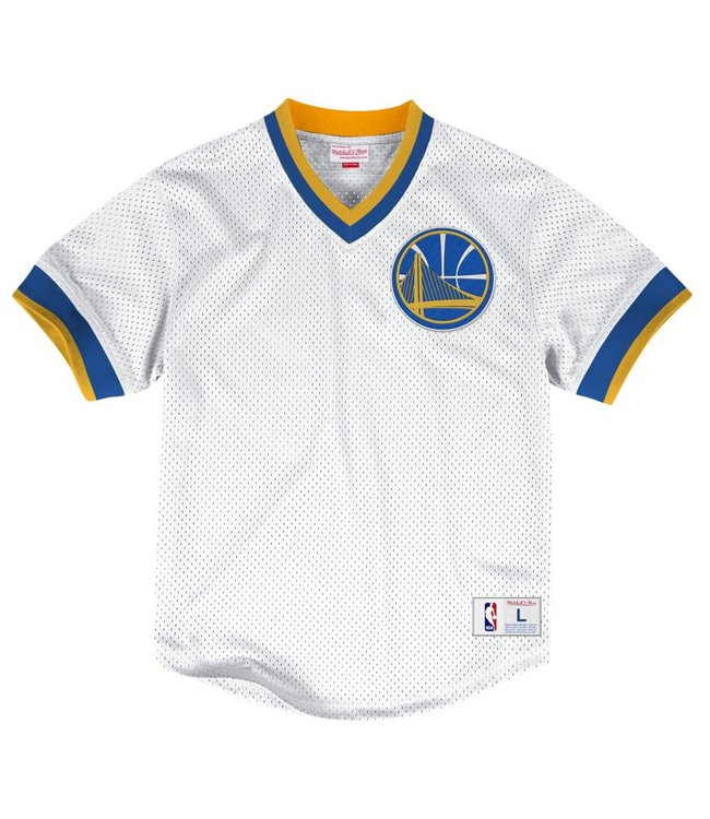 MITCHELL AND NESS MESH V-NECK TOP -  GOLDEN STATE WARRIORS