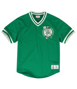 MITCHELL AND NESS MESH V-NECK TOP -  BOSTON CELTICS