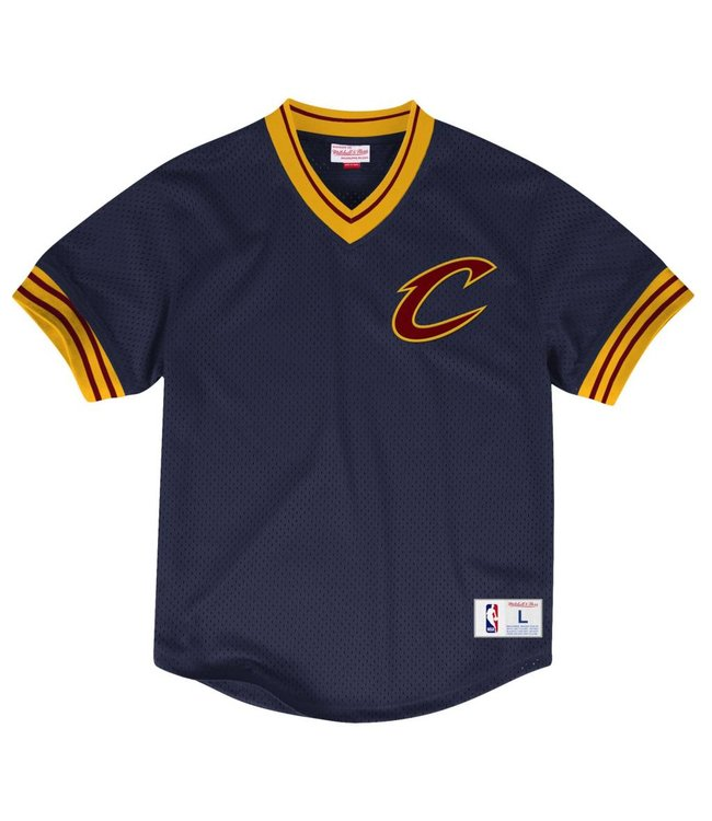 MITCHELL AND NESS MESH V-NECK TOP -  CLEVELAND CAVALIERS