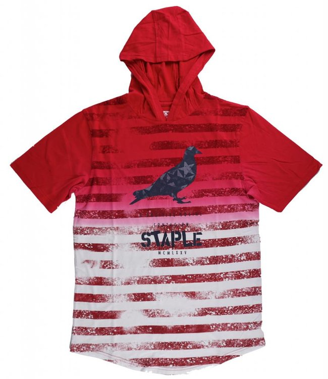STAPLE NEW WORLD HOODED T-SHIRT