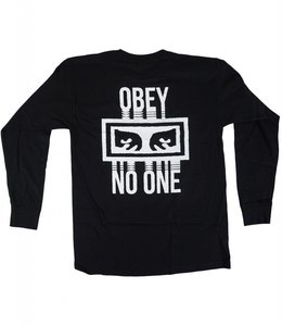 OBEY NO ONE BASIC LONG SLEEVE TEE