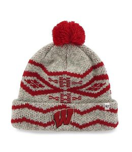 '47 BRAND WISCONSIN BADGERS BROOKFIELD CUFF BEANIE