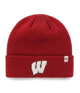 '47 BRAND WISCONSIN BADGERS RAISED CUFF BEANIE
