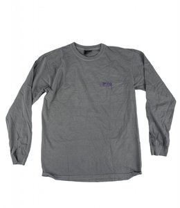 STUSSY DESIGNS PIGMENT DYED LONG SLEEVE TEE