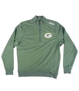 '47 BRAND GREEN BAY PACKERS COMPETE 1/4 ZIP CREW