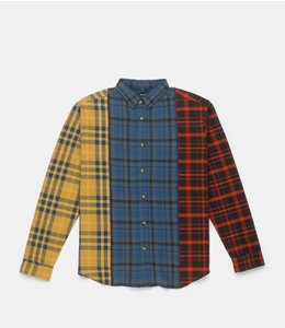 10.DEEP REFURBISHED FLANNEL BUTTONDOWN SHIRT