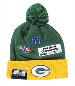 NEW ERA GREEN BAY PACKERS SUPER BOWL PATCH BEANIE