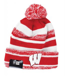 NEW ERA WISCONSIN BADGERS SPORT STOCK BEANIE