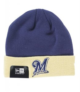 NEW ERA MILWAUKEE BREWERS BASIC CUFF BEANIE