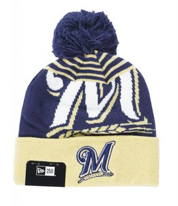 NEW ERA MILWAUKEE BREWERS LOGO WHIZ BEANIE