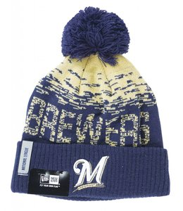 NEW ERA MILWAUKEE BREWERS ON FIELD SPORT BEANIE