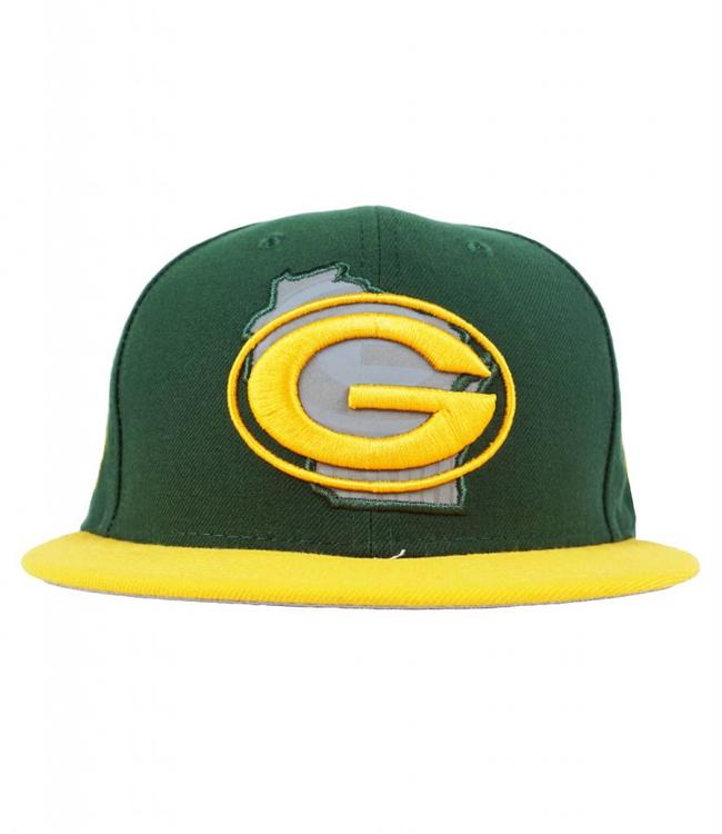 0dc9b840b20121 ... authentic new era green bay packers state reflective fitted hat cc014  c4905