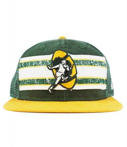 NEW ERA GREEN BAY PACKERS VINTAGE STRIPE TRUCKER SNAPBACK