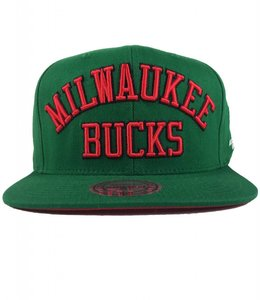 MITCHELL AND NESS BUCKS HWC WORDMARK JERSEY SNAPBACK HAT