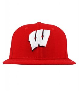 NEW ERA WISCONSIN BADGERS TEAM BASIC FITTED HAT