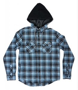 SALTY CREW STERN HOODED FLANNEL SHIRT