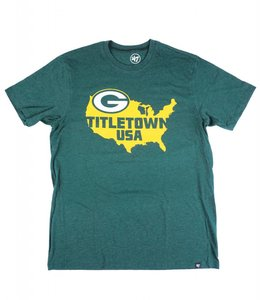 '47 BRAND GREEN BAY PACKERS TITLETOWN USA CLUB TEE