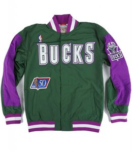 MITCHELL AND NESS BUCKS 1996-1997 AUTHENTIC WARMUP JACKET