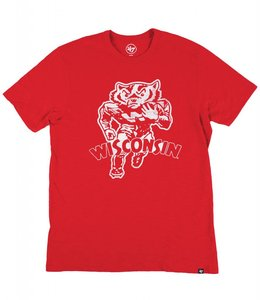 '47 BRAND WISCONSIN BADGERS BUCKY SCRUM TEE