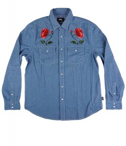 STUSSY POPPY DENIM SHIRT